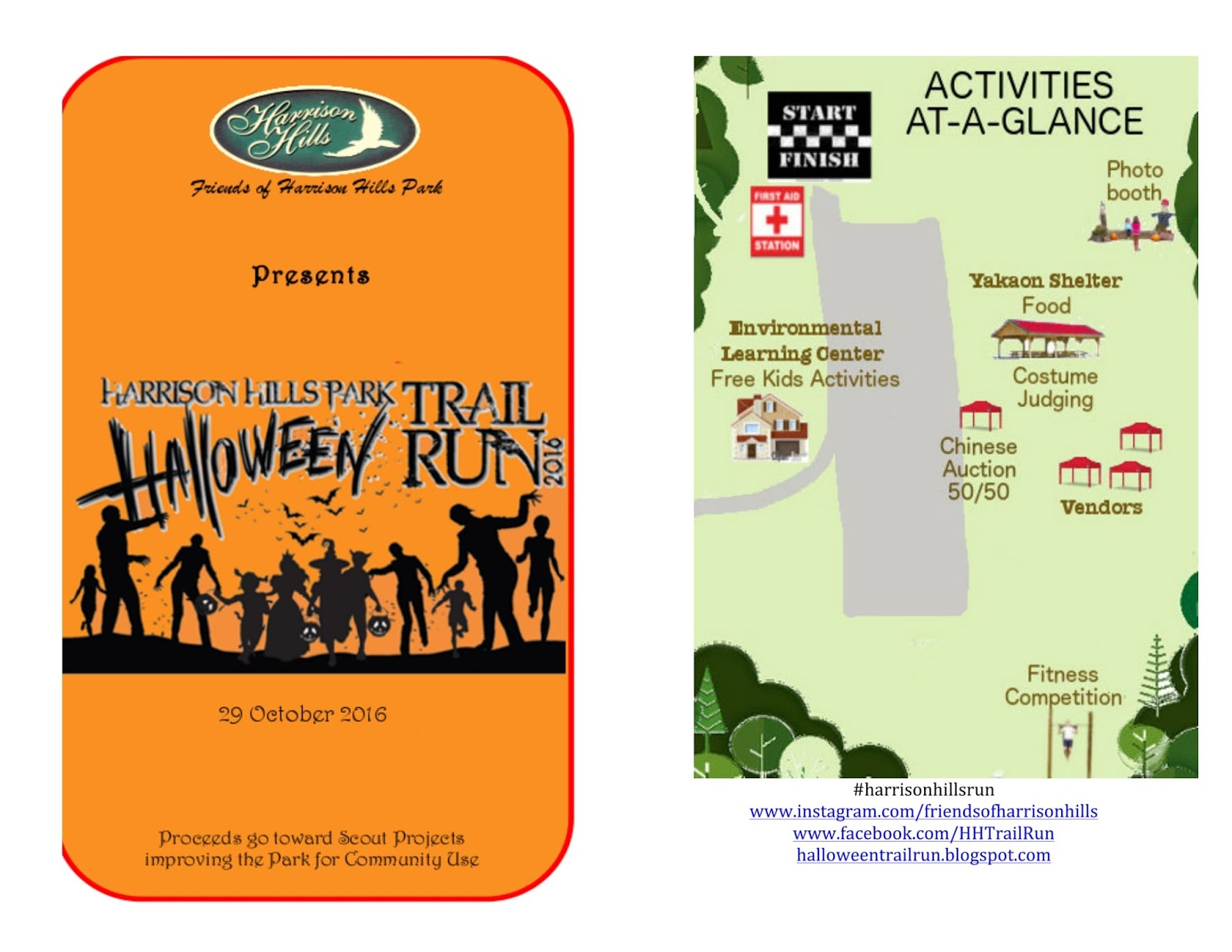 harrison hills 5k 10k halloween trail run 31st oct 2015 event