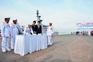 Kasal laksamana TNI Ade Supandi, S.E., M.AP., Resmikan KRI Torani-860 dan KRI Lepu-861