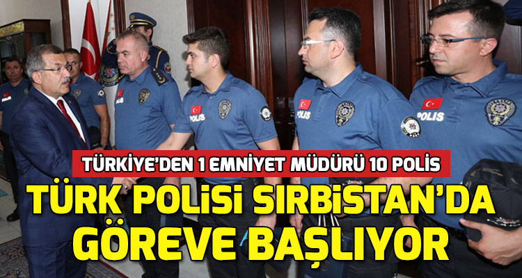 Sırbistan Sıla Yolu Projesi Kapsamında Polislerimiz Sırbistan'a Uğurlandı
