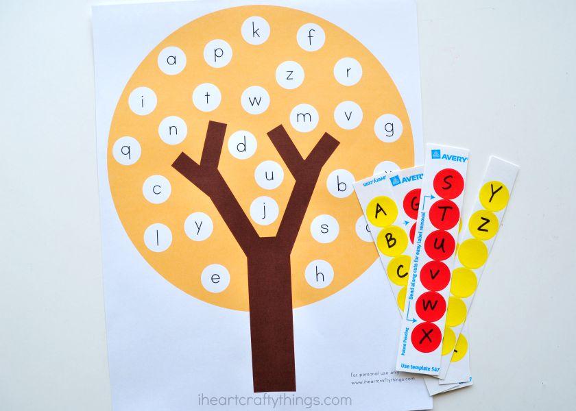 Fun Fall Tree ABC Match Preschool Printable