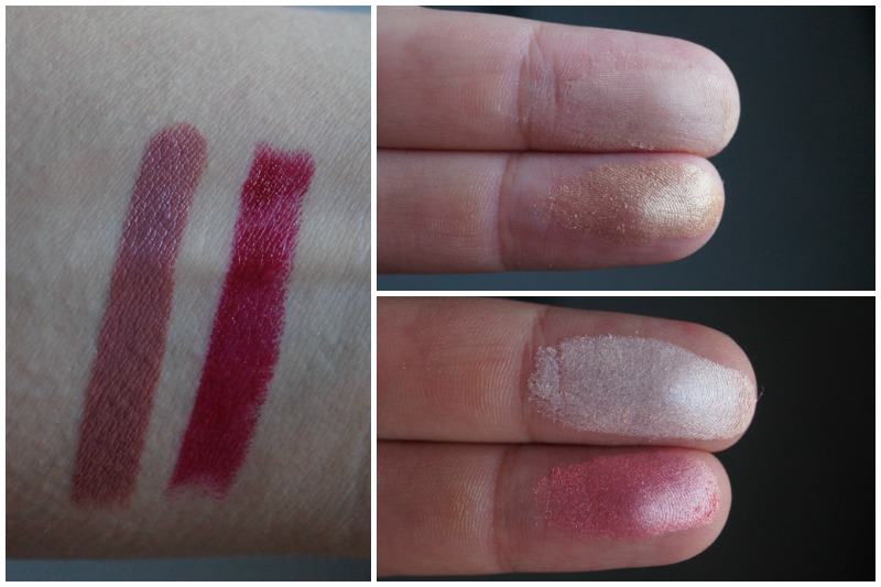 Swatches der Slim Lipsticks, Bronzer und Blush