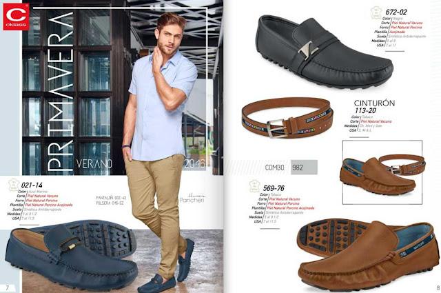 Zapatos cklass  verano 2016 : calzados caballeros