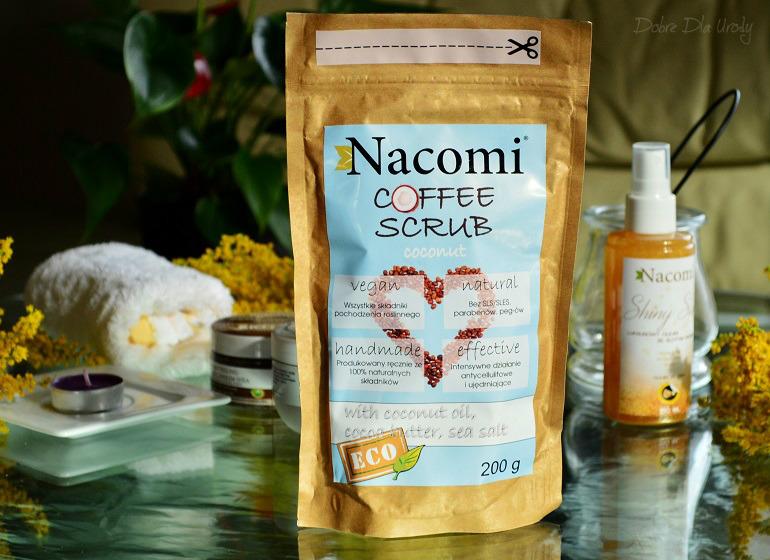 Nacomi kosmetyki naturalne Coffee Scrub Coconut- suchy peeling kokosowy