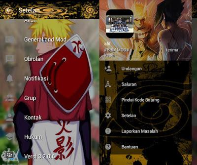 BBM MOD Naruto versi 3.2.0.6 Apk