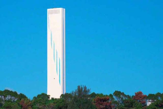 smokestack, power-plant, Kin, Okinawa, pines, tres