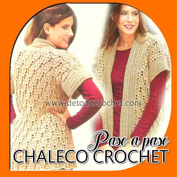 chaleco crochet para talle grande paso a paso