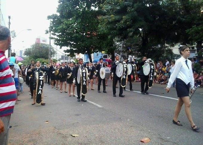 Natal: Banda da Escola Estadual Zila Mamede é atração durante revezamento da tocha olímpica