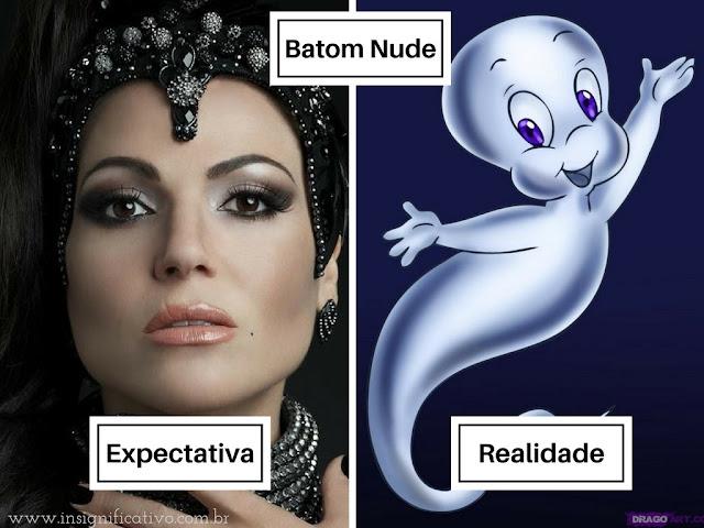 Batom Nude - Expectativa x Realidade - Lana Parrila e Gasparzinho