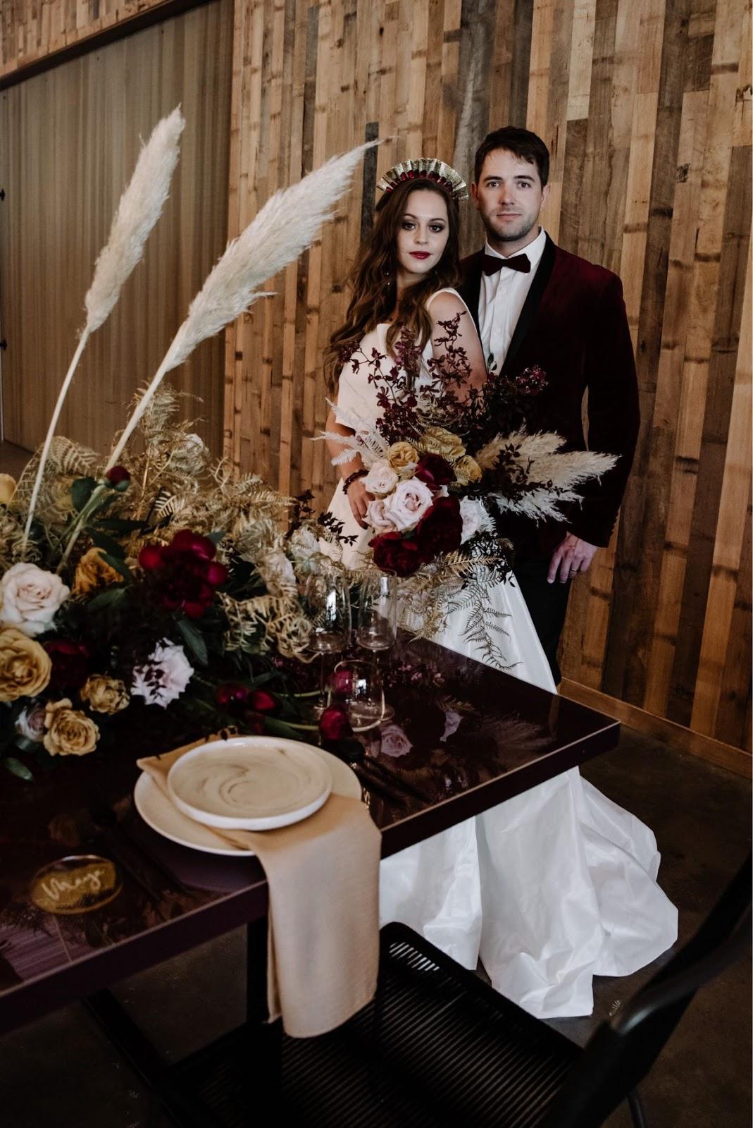 sandie bertrand photography bohemian florals australian bridal designer styling boho wedding