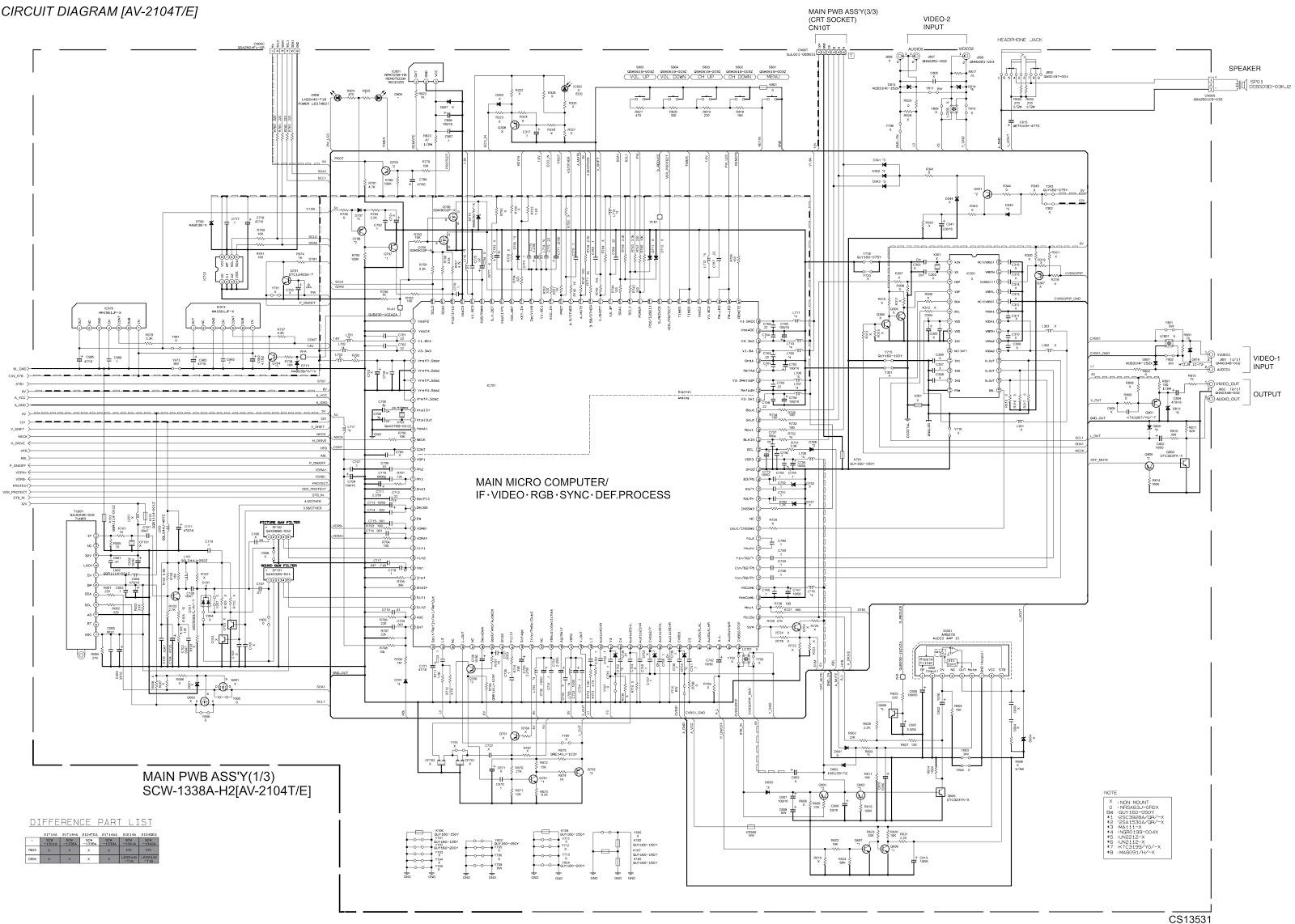 Circuit Diagram Jvc Tv