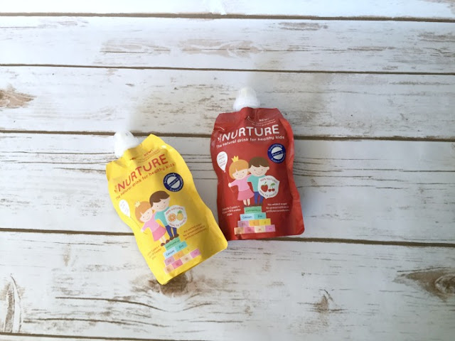 Imune Nurture Fruity Water Review | Morgan's Milieu: Imune Nurture Fruity Water, Strawberry & Cherry and Orange & Pineapple flavours. My kids really enjoyed them.