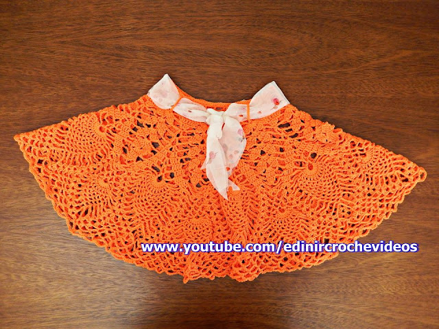 saia de croche super rodada para bebê edinir-croche youtube facebook aprender croche