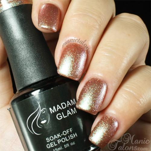 Madam Glam Gel Polish 241 Glittery Bronze Swatch