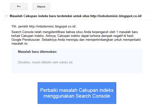 Cara Memperbaiki Masalah Cakupan indeks di Search Console