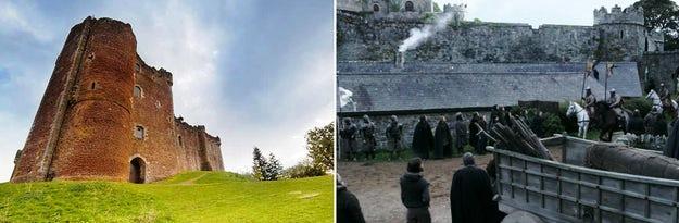 Kastil Doune telah tampil dalam komedi dan drama selama 40 tahun; gambar dari Skyscanner (kiri) dan Kizaz (kanan).