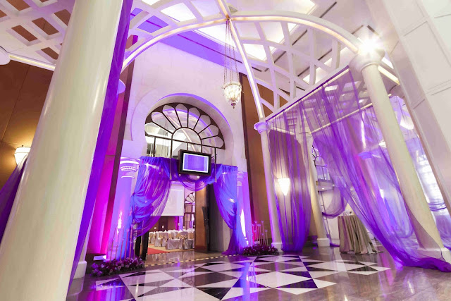 purple drape foyer
