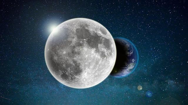foto bulan yang menutupi bumi yang merupakan proses dari gerhana bulan