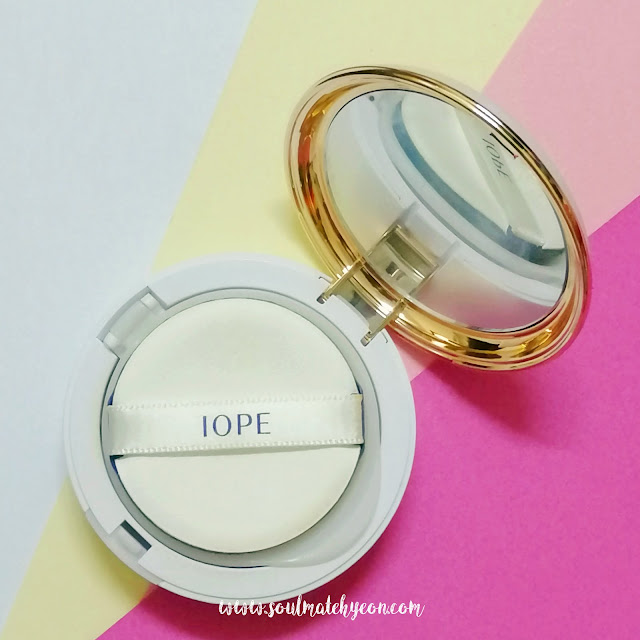 Review; IOPE's Air Cushion Intense Cover SPF50+/PA+++ 21C Cool Vanilla