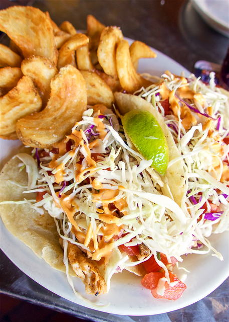 Fish Tacos at The Salty Pelican - Amelia Island, FL