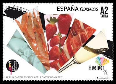 Filatelia - Huelva Capital Española de la Gastronomía 2017