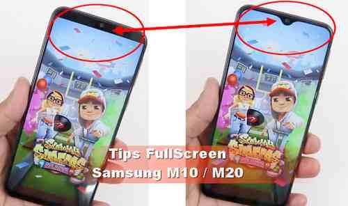 Cara Setting Samsung M10 / M20 agar Aplikasi bisa Full Layar