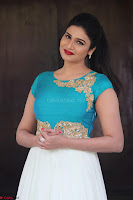 Anjena Kirti in Green and white Anarkali Dress Cute Makeup Latest Pics 015.JPG