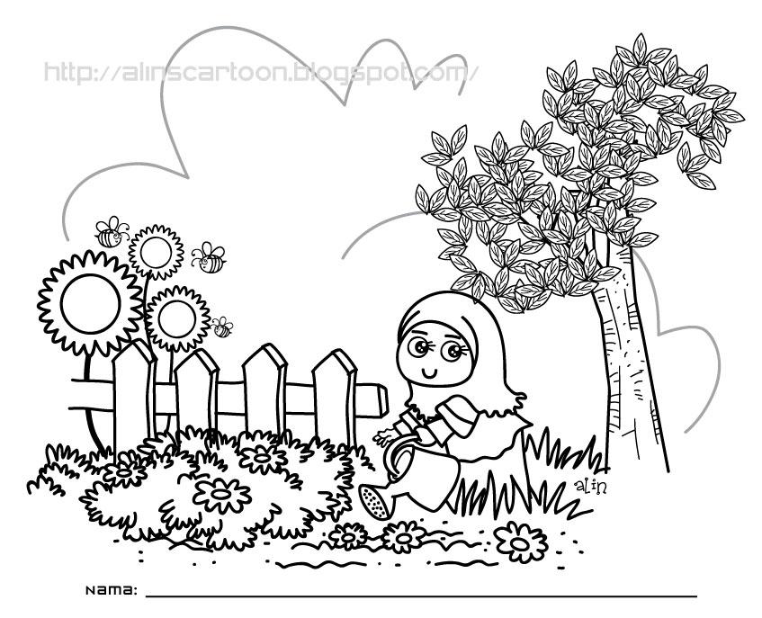 Alins Cartoon Mari Mewarna Buat Adik Adik