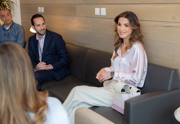 Cyrstel is a business process outsourcing provider established by Young Jordanians. Queen Rania closet, pink satin blouse