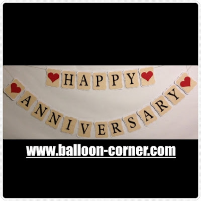 Bunting Banner HAPPY ANNIVERSARY