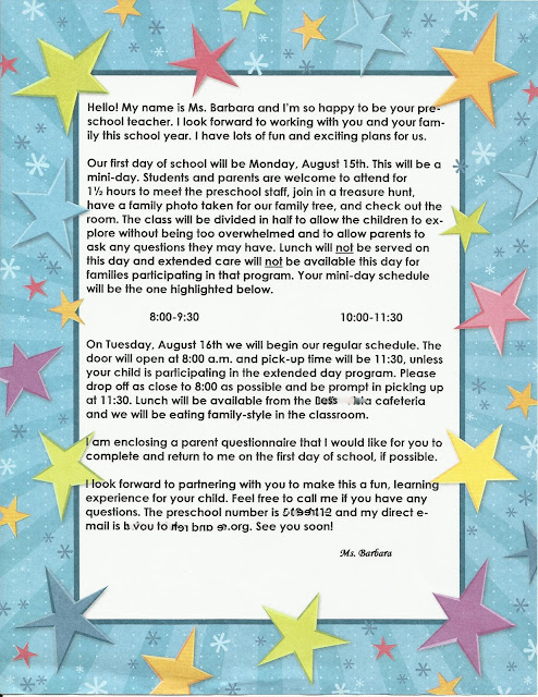 awesome welcome to preschool letter cover letter teacher for