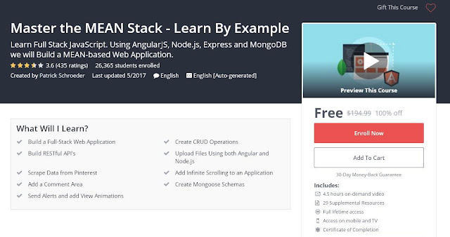 Master the MEAN Stack - Learn By Example