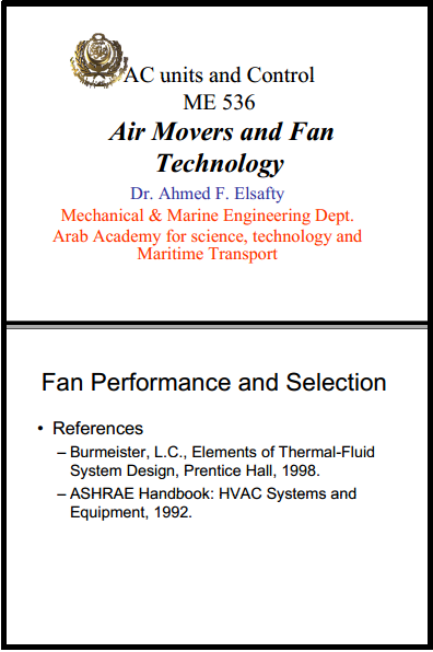 Air Movers and Fan Technology - Free PDF Course