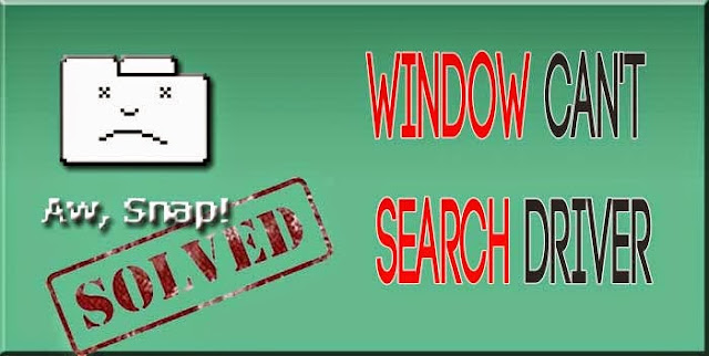 Window not searching driver software online