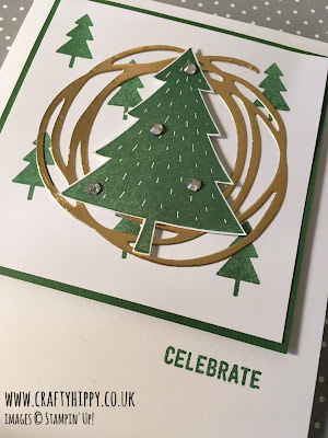 Christmas Cards by Stampin' Up! Create this gorgeous Christmas tree card using Stampin' Up! stamp sets