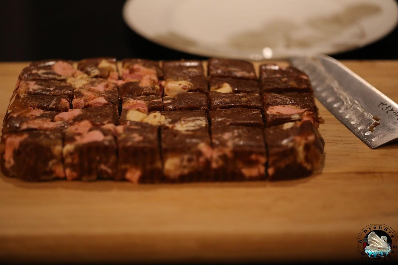 Barres au chocolat et biscuits