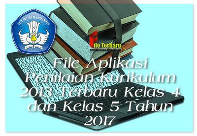 File Aplikasi Penilaian Kurikulum 2013 Terbaru Kelas 4 dan Kelas 5 Tahun 2017