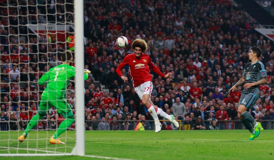 Marouane Fellaini fires Red Devils into Europa League final
