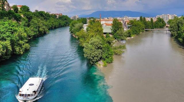Rio Rhone Suiza Francia