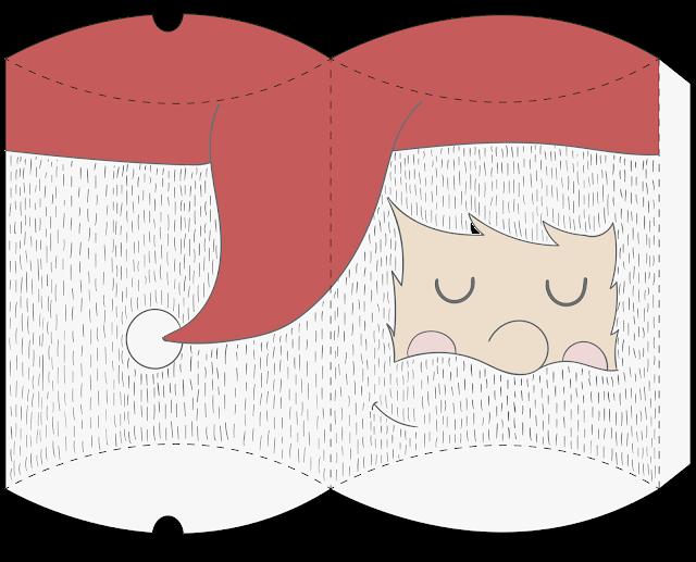 Cajas Almohada para Navidad para Imprimir Gratis.