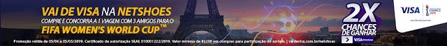 Netshoes - Você e mais 3 amigos na Copa do Mundo Feminino da FIFA em Paris.