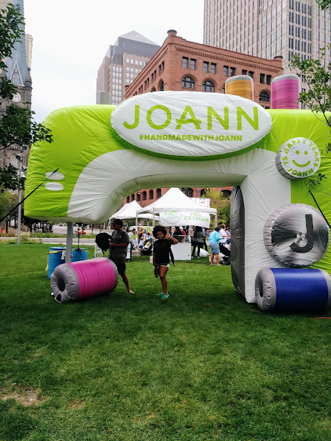 Joann Fabrics and Amber Making It on Public Square
