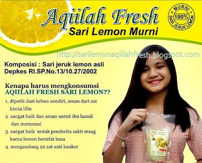 Aqiilah Fresh Sari Lemon Murni Tanpa Bahan Pengawet Terdaftar di Depkes