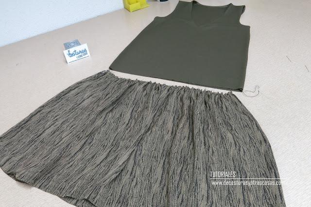 como unir una falda a una camiseta