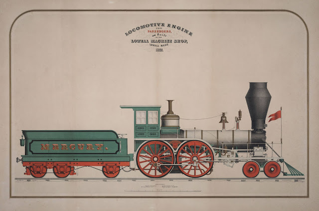 locomotive builder's lithograhic print
