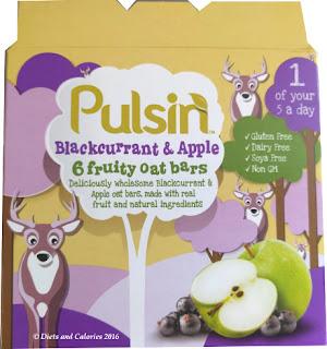Pulsin Blackcurrant & Apple fruit oat bars