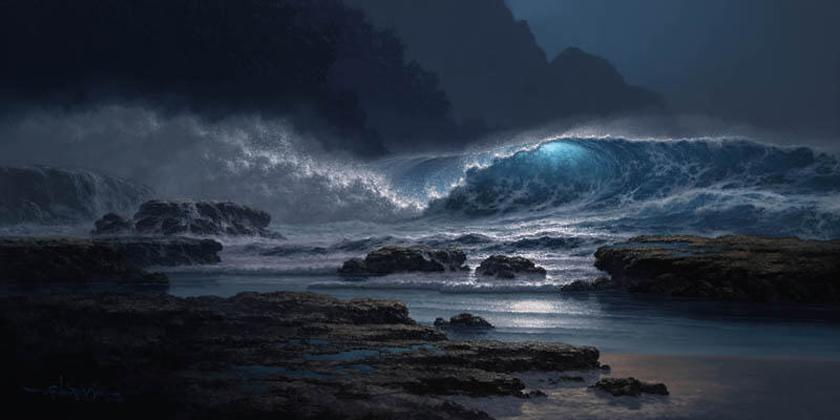 Roy Gonzalez Tabora 1956 - Hawaiian Seascape painter