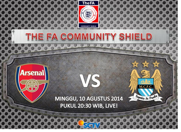 Prediksi Arsenal vs Manchester City FA Community Shield 2014