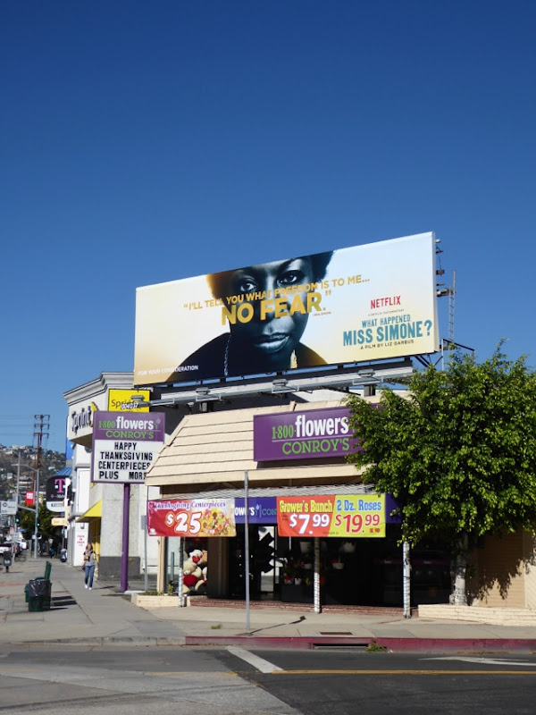 What Happened Miss Simone No Fear FYC billboard