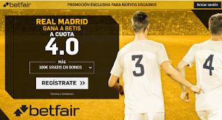 betfair supercuota victoria del Real Madrid al Betis 20 Septiembre