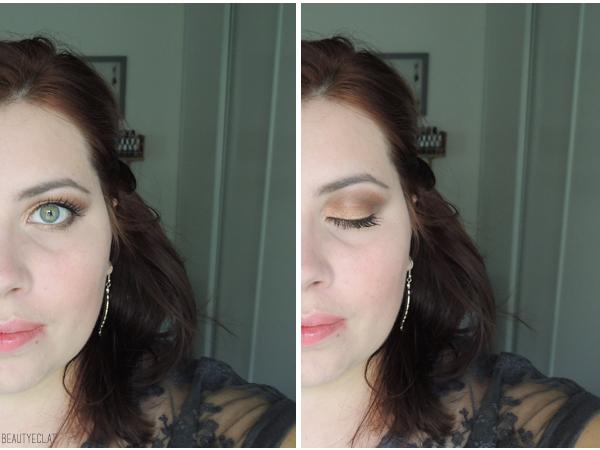 tutoriel maquillage yeux verts pigment melon mac pas a pas
